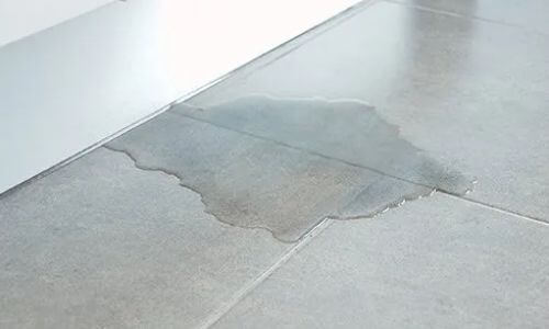 water leaking onto floor