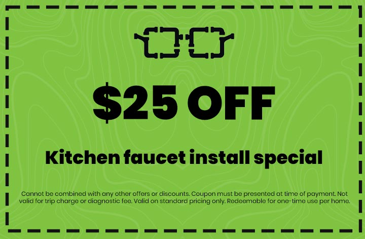 Discounts on Kitchen faucet install special