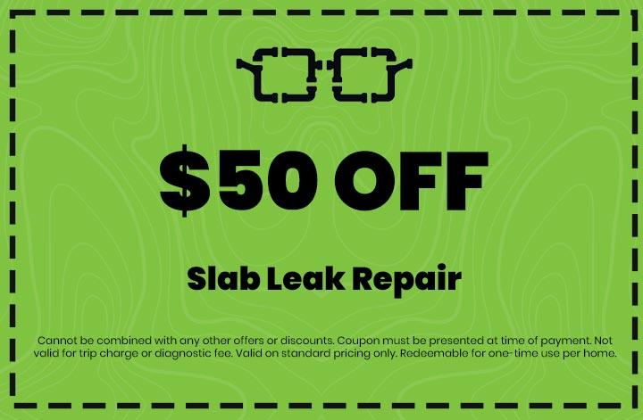 Discounts on Slab Leak Repair