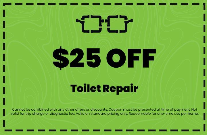 Discounts on Toilet Repair