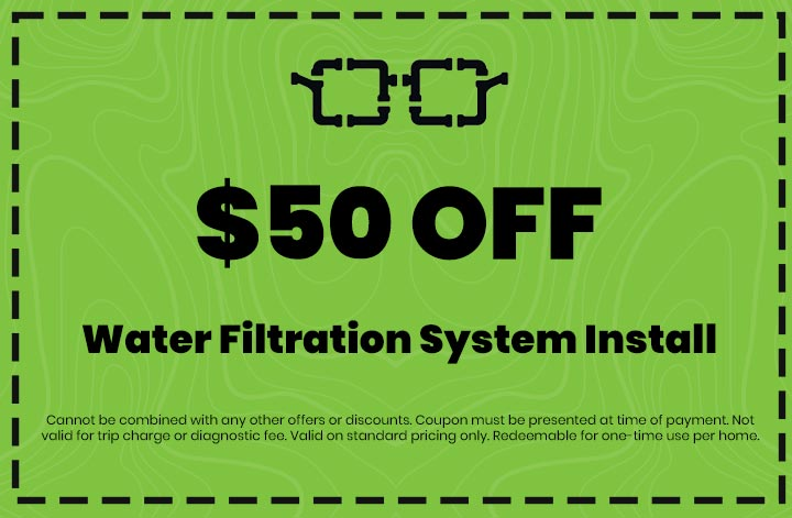 Discounts on Water Filtration System Install