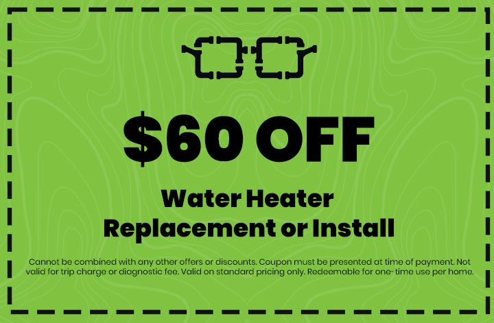 Discounts on Water Heater Replacement or Install